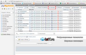 mysql экспорт базы данных