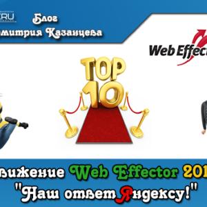 Продвижение WebEffector 2014 или «Наш ответ Яндексу!»