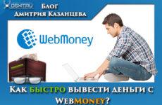 Как быстро вывести деньги с WebMoney?